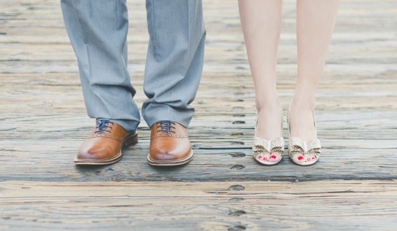 couple in shoes