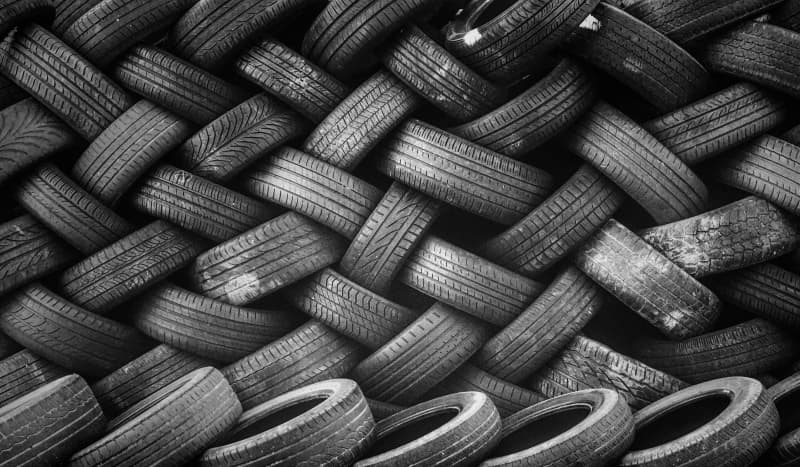 tyres stacked